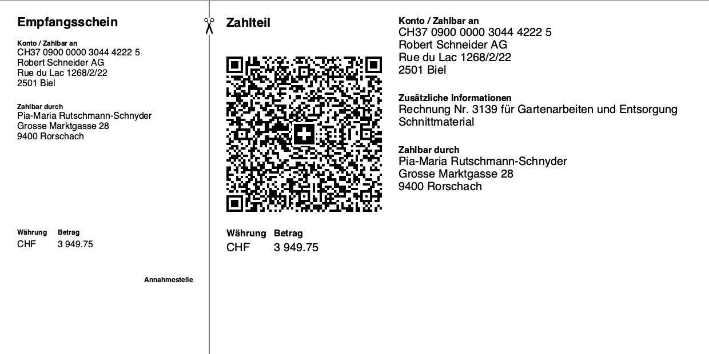 Swiss QR Code - QR Rechnung ohne Referenznummer
