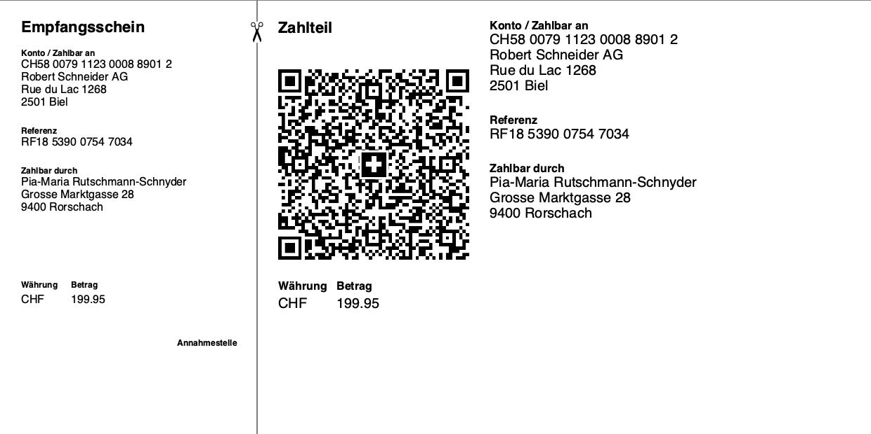 Swiss QR Code - QR Rechnung mit Creditor Reference Referenznummer